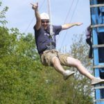 Zipline Adventure at Indian Creek Campground Tecumseh Michigan